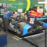 Detroit Belle Isle Grand Prix 2012 - Rubens Barrichello's Car in Garage