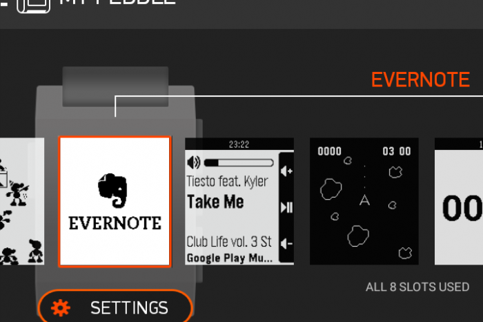 The Elephant on Your Wrist: Evernote for Pebble